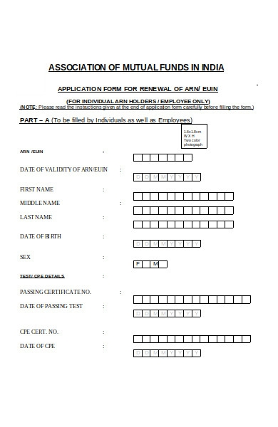 renewal application form