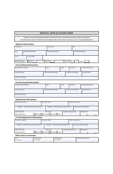 rental application form in pdf