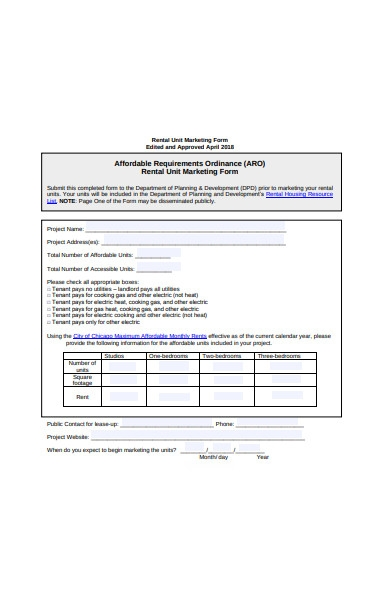 rental unit marketing form1