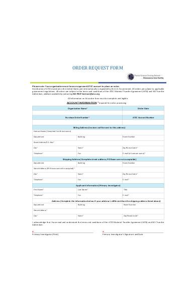 request order form sample1