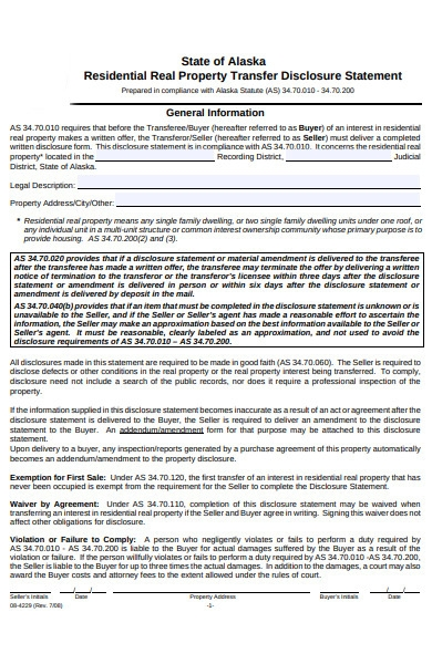 residential real estate form