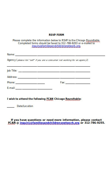 round table rsvp form
