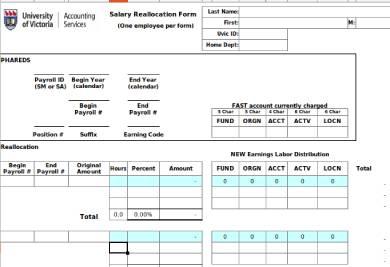 salary payroll reallocation form