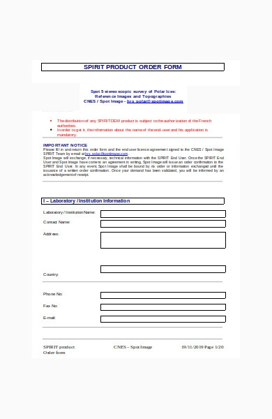 sample products order form in doc