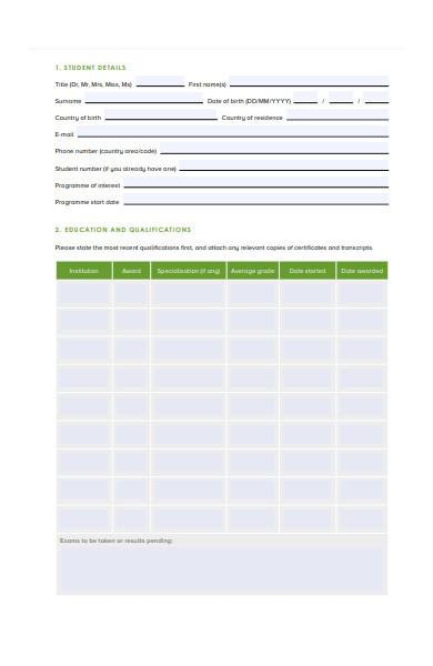 scholarship application form1