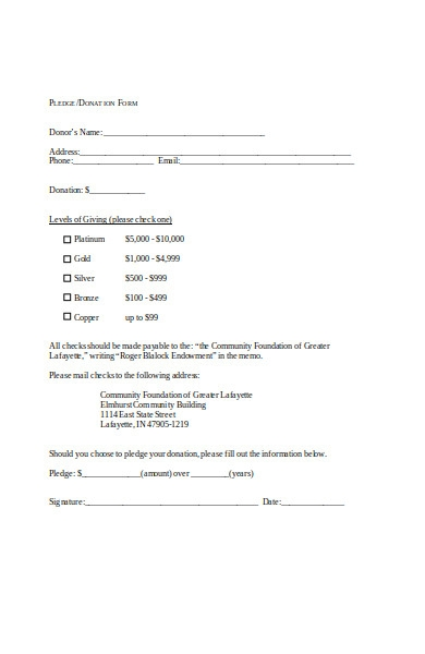 simple donation form