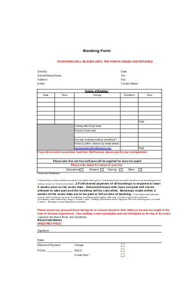 simple event booking form1