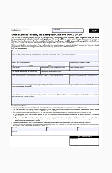 small business property form