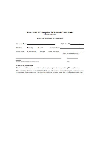 snapshot subscription form