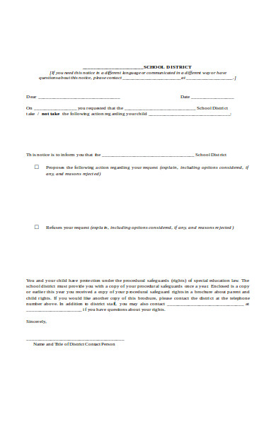 special education form