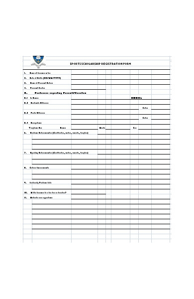 sports schloarship registration form