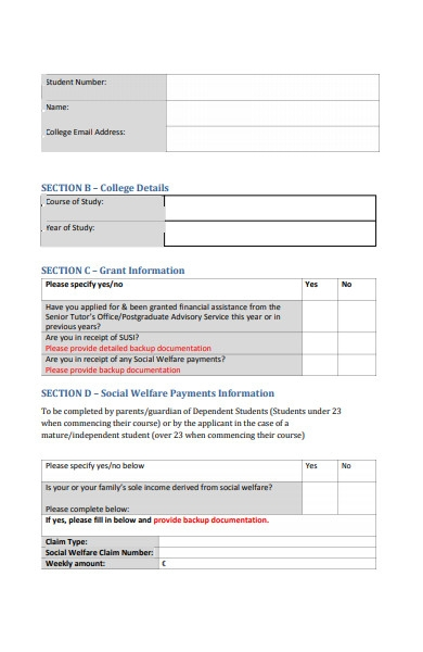 sports waiver application form