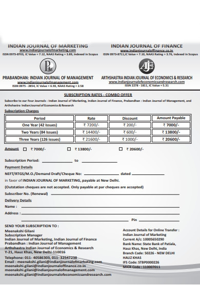 subscription payment form