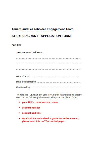 tenant lease holder application form