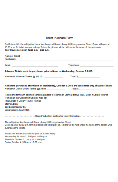 ticket purchase form