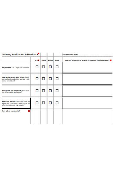 training feedback form1