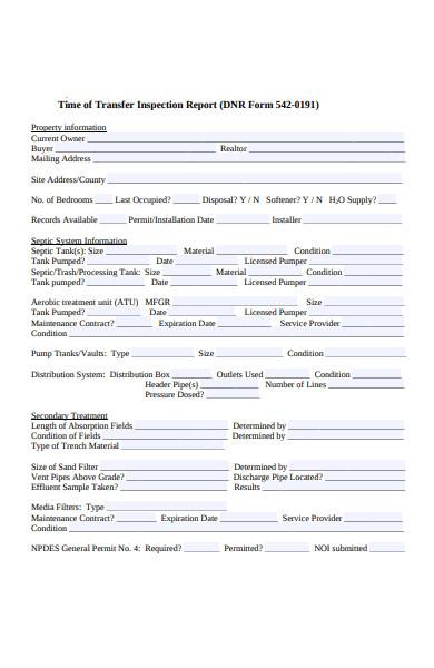 transfer inspection form