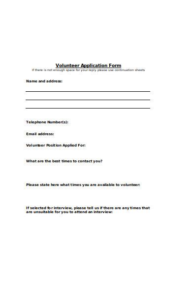 volunteer advocate application form