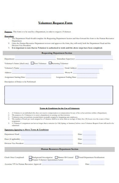 volunteer appointment form1