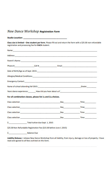 workshop content form