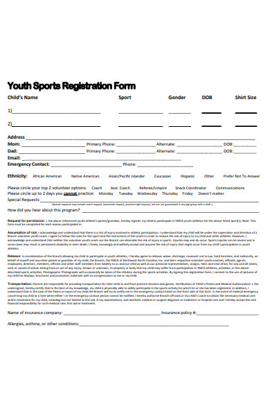 youth sports registration form1