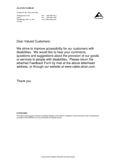 customerfeedbackformandcoverletter
