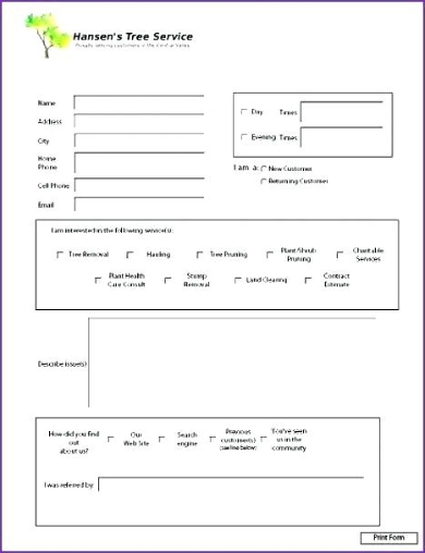 Tree Service Estimate Template from images.sampleforms.com