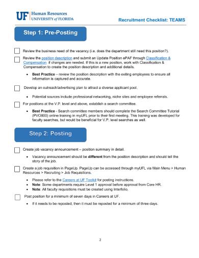 7+ Recruitment Checklists - PDF