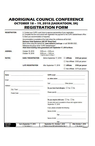 aboriginal council conference registration form