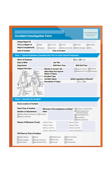 accident investigation form