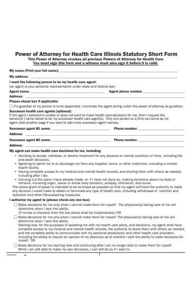 advocate health care attorney form