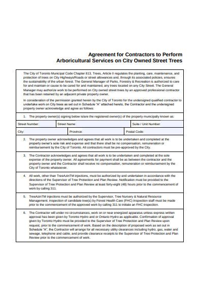 agreement form sample