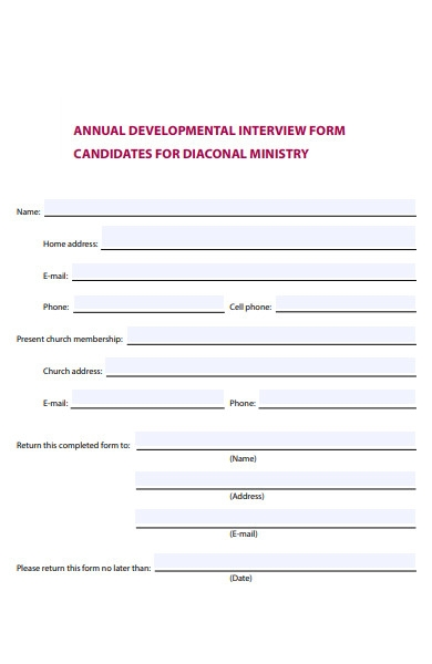 annual interview form