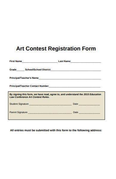 art contest registration form