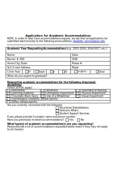 attendance accommodation request form