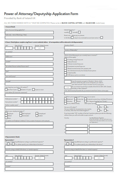 attorney application form