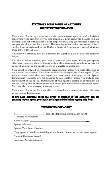 attorney certification form