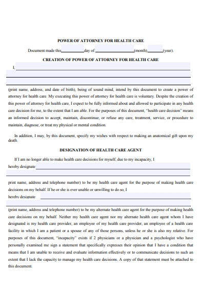 attorney treatment form