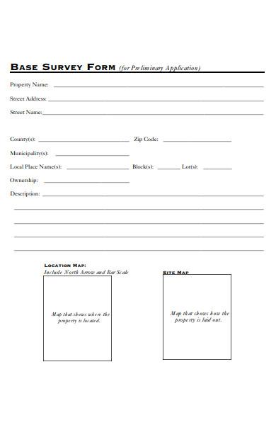 base survey form