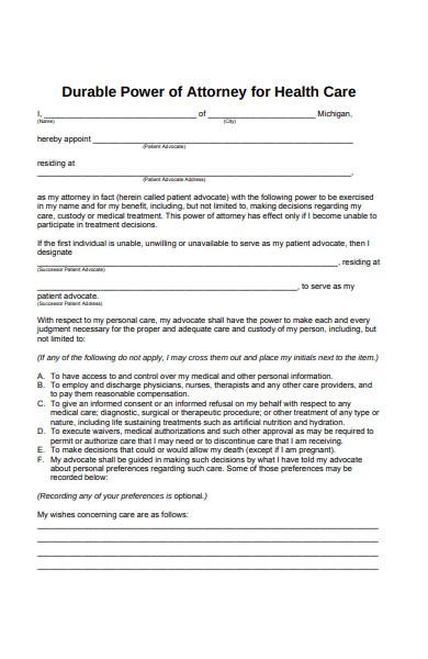 basic attorney form