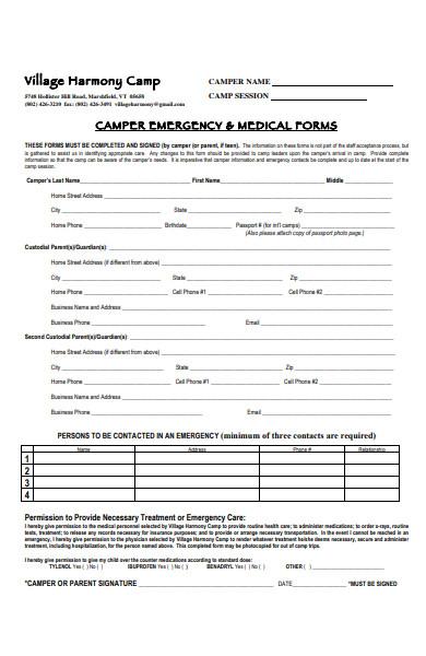 basic emergency form