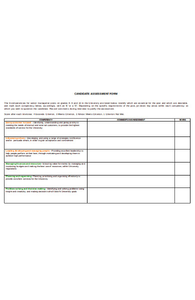 candidate assessment form1