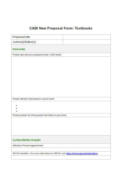 cash book proposal form