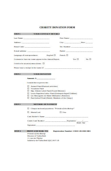 charitable scheme form