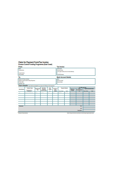 claim for payment tax invoice form