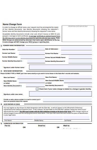 company name change forms