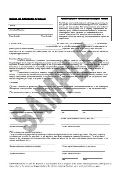 consent and authorization form