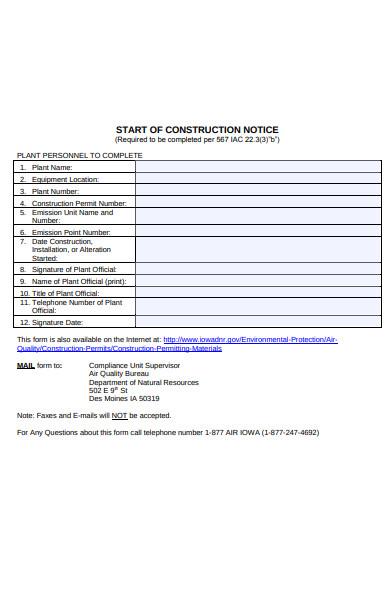 construction notice form1