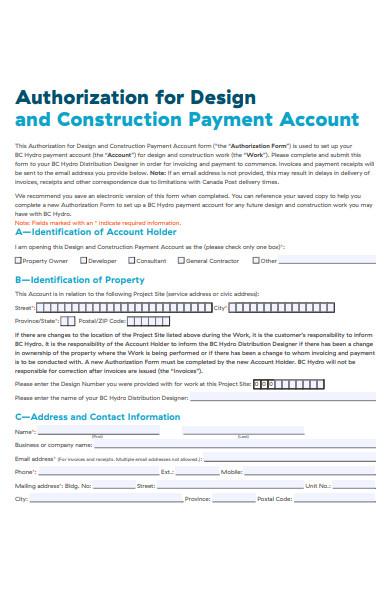 construction payment form