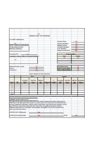 consultant invoice form in pdf